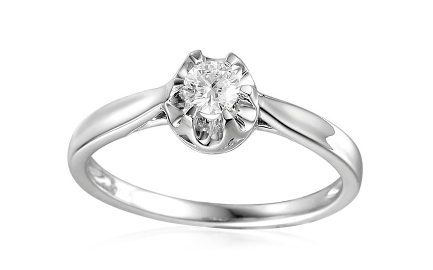 Zlatý zásnubní prsten s diamantem Louisa IZBR320A