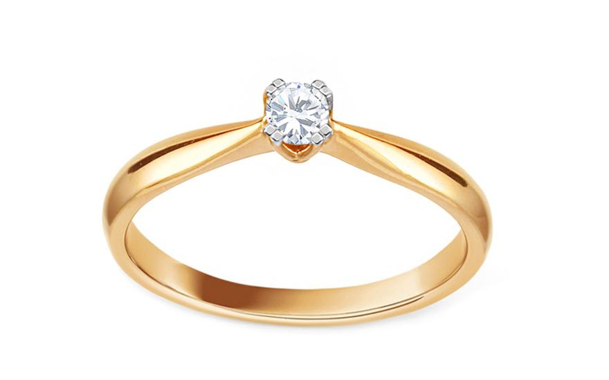 Zlatý zásnubní prsten s diamantem Millie KU519