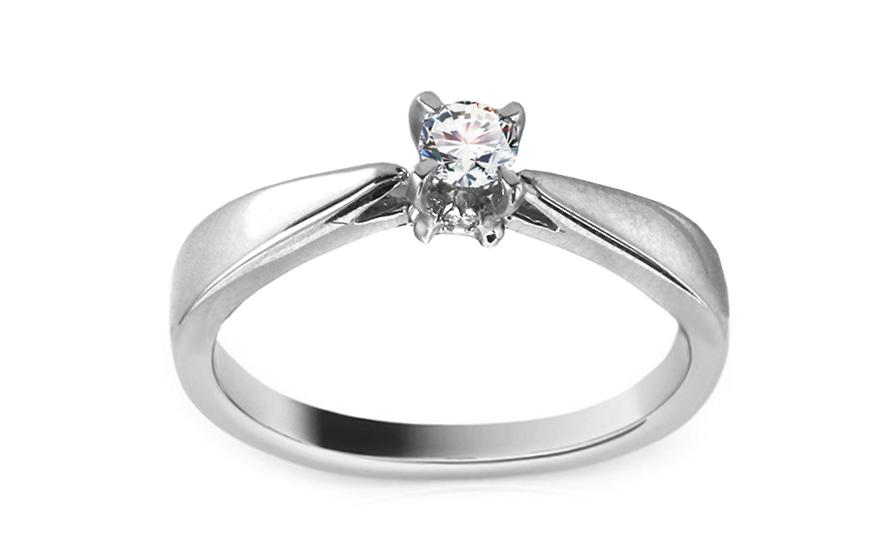 Zlatý zásnubní prsten s diamantem Rania KU384A