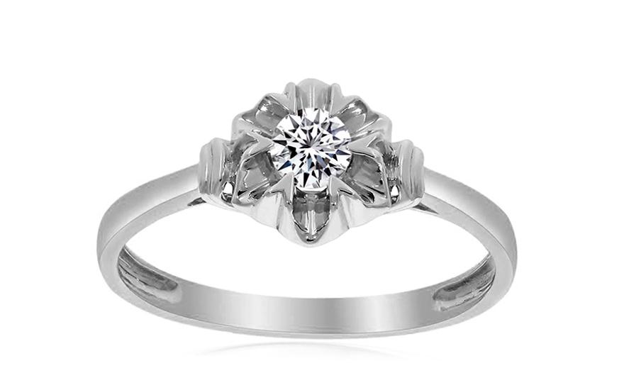 Zlatý zásnubní prsten s diamantem Rowan KU524A
