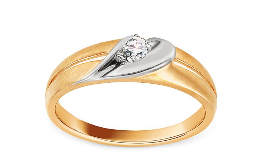 Zlatý zásnubní prsten s diamantem Tejana KU486