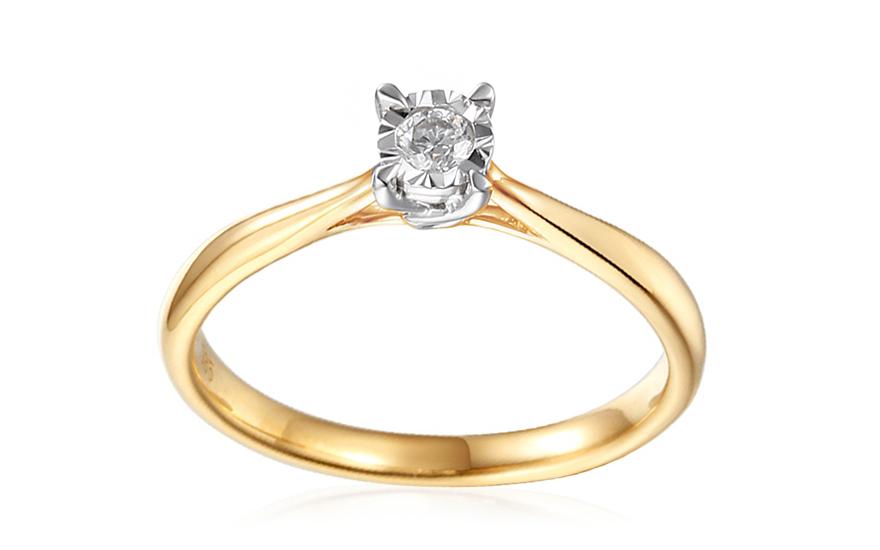 Zlatý zásnubní prsten s diamantem Vianne IZBR314