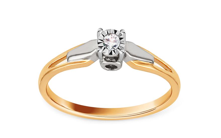 Zlatý zásnubní prsten s diamantem Vivyan KU535