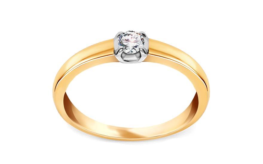 Zlatý zásnubní prsten s diamantem Yanna KU363