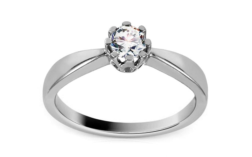 Zlatý zásnubní prsten s diamantem Yasmin KU388A