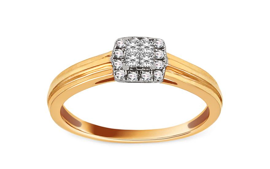 Zlatý zásnubní prsten s diamanty 0,120 ct Eavana ROYBR027