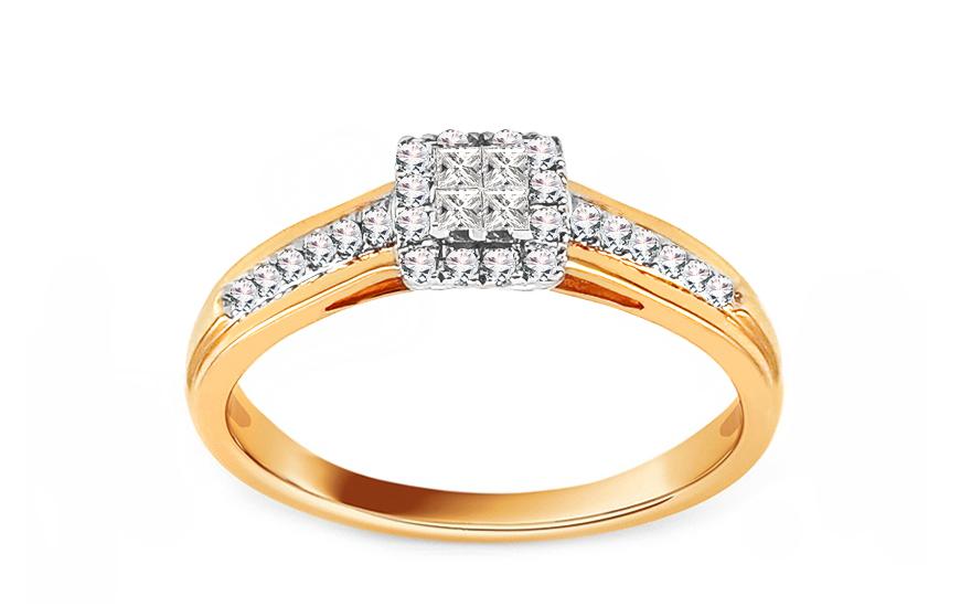 Zlatý zásnubní prsten s diamanty 0,200 ct Markia ROYBR058