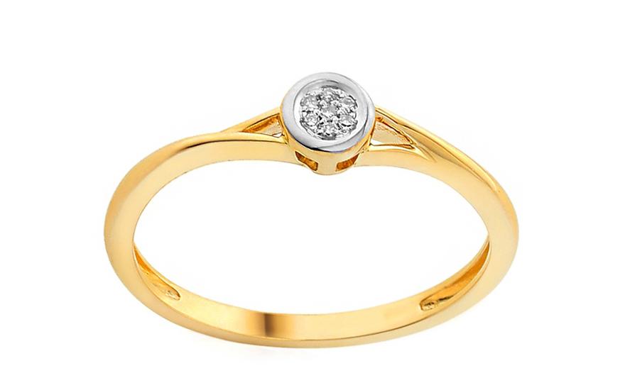 Zlatý zásnubní prsten s diamanty Dalila IZBR053