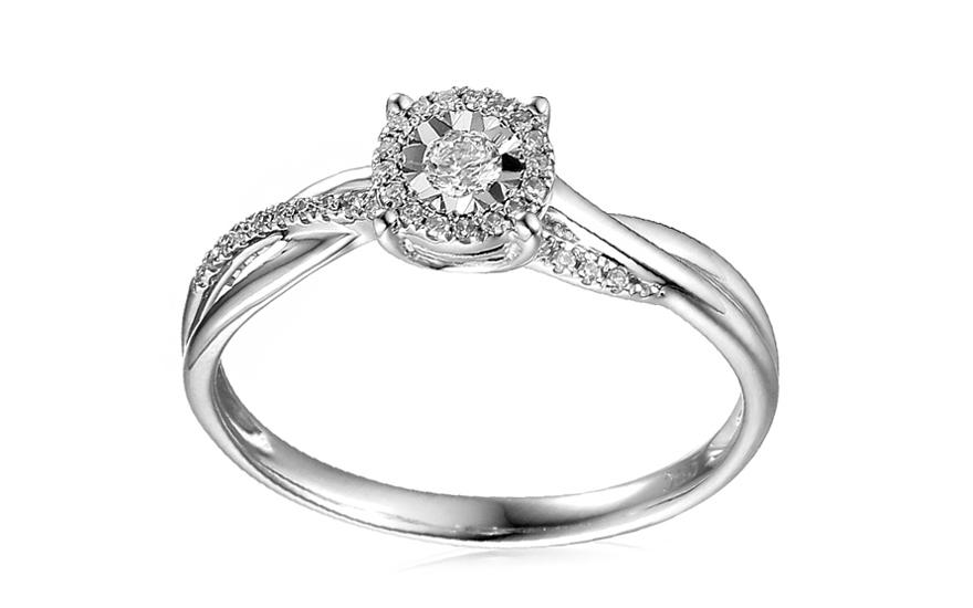 Zlatý zásnubní prsten s diamanty Éclat IZBR161A