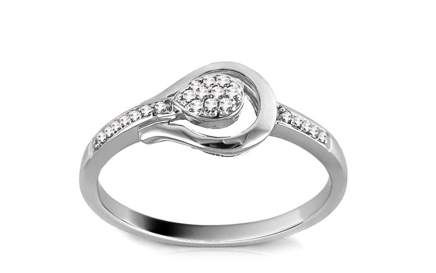 Zlatý zásnubní prsten s diamanty Elanna 9DM0043
