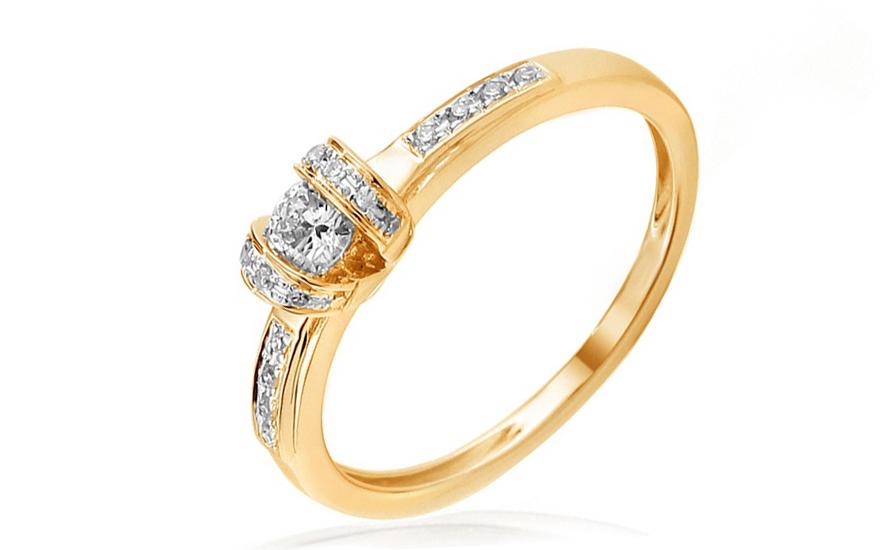 Zlatý zásnubní prsten s diamanty Eliana IZBR029