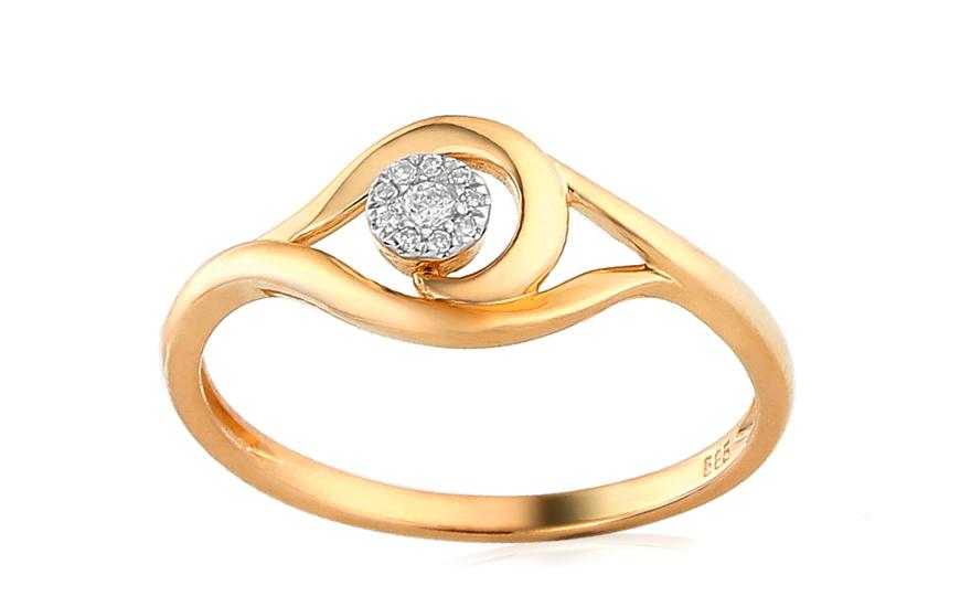 Zlatý zásnubní prsten s diamanty Hatria IZBR149