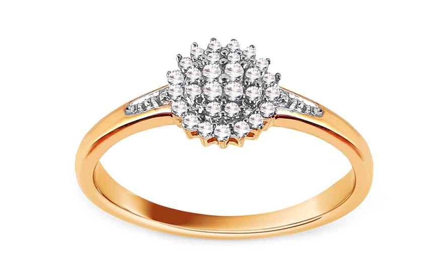 Zlatý zásnubní prsten s diamanty Julietta CSBRI006