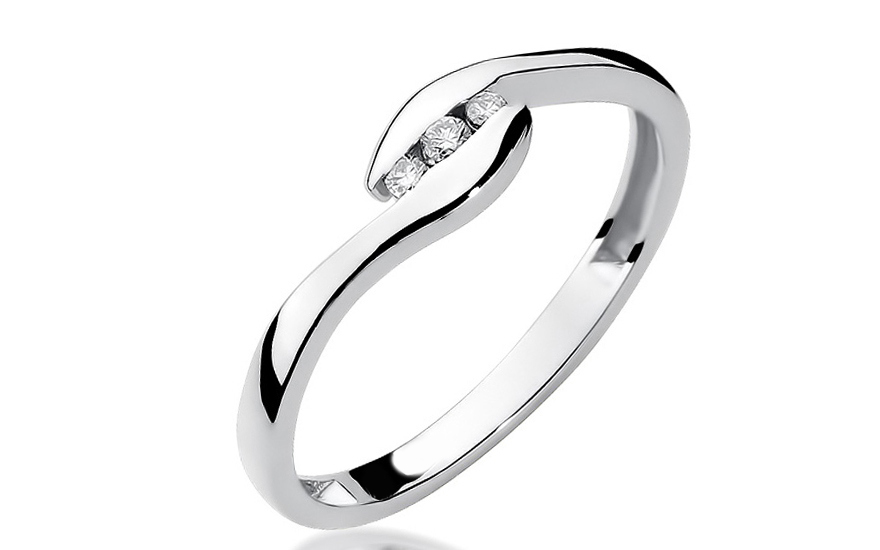 Zlatý zásnubní prsten s diamanty Karima BSBR029A