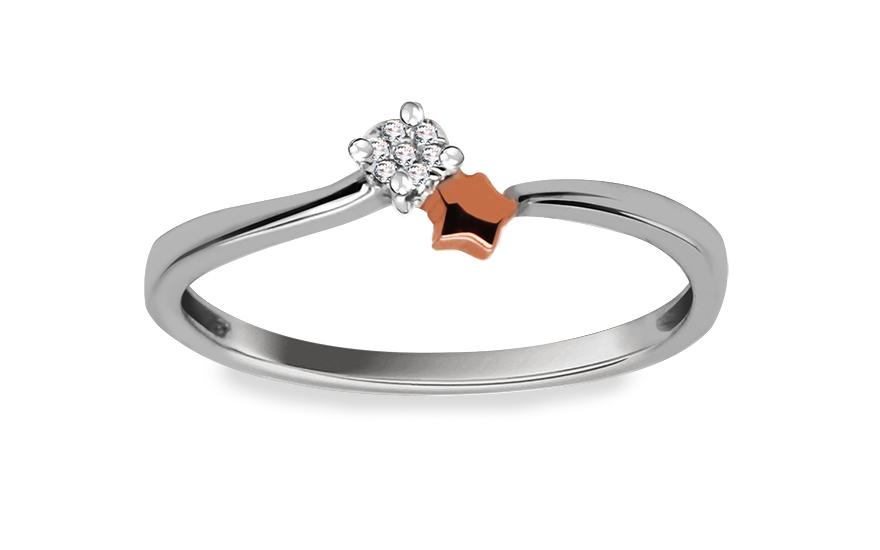 Zlatý zásnubní prsten s diamanty Lore 9DM033
