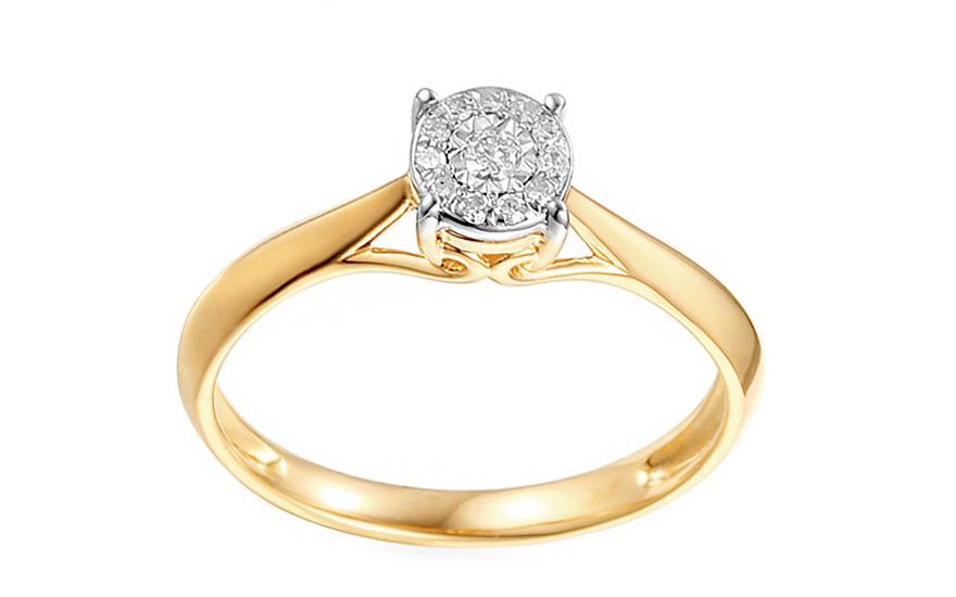 Zlatý zásnubní prsten s diamanty Maris IZBR035