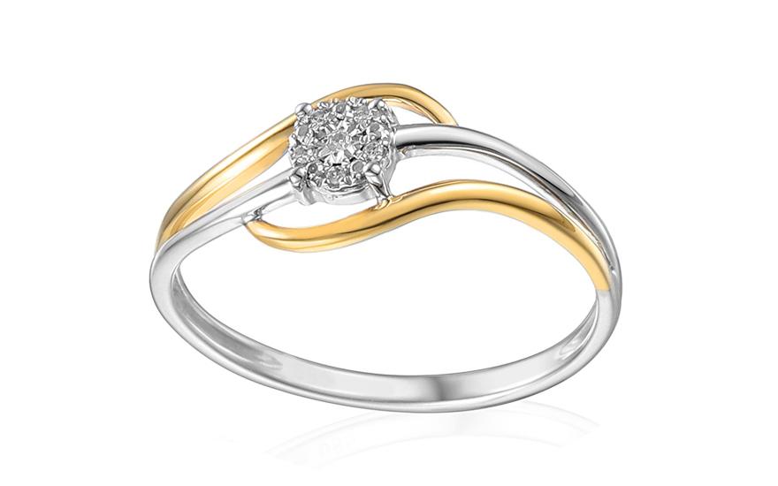 Zlatý zásnubní prsten s diamanty Nadalia IZBR144