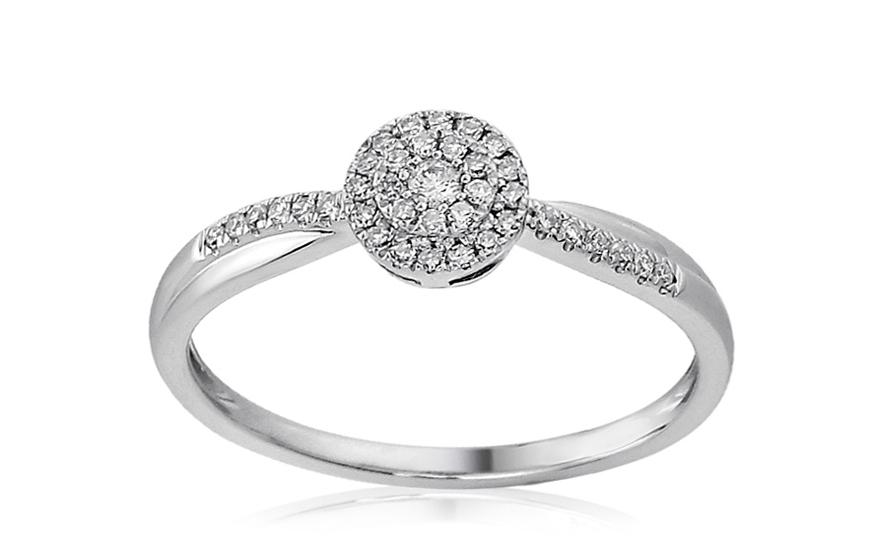 Zlatý zásnubní prsten s diamanty Nola IZBR167A