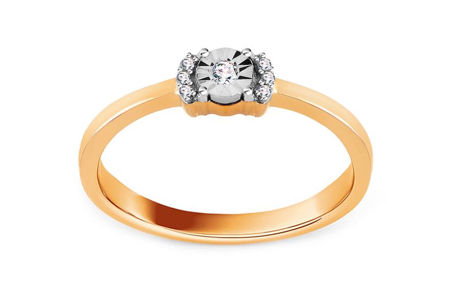 Zlatý zásnubní prsten s diamanty Osanna CSBRI005