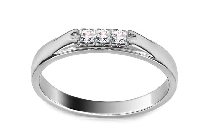 Zlatý zásnubní prsten s diamanty Paola ARBR35A