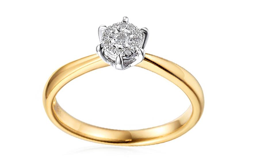 Zlatý zásnubní prsten s diamanty Yalena IZBR099P