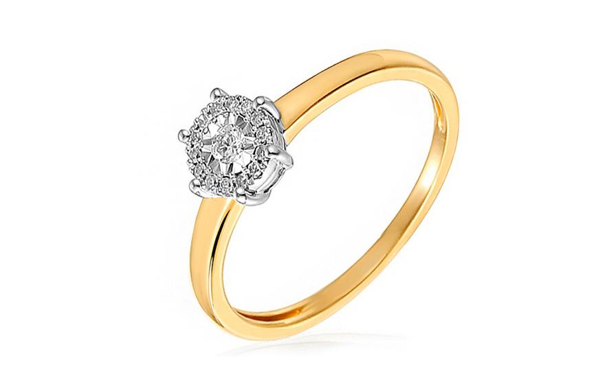 Zlatý zásnubní prsten s diamanty Zoey IZBR040
