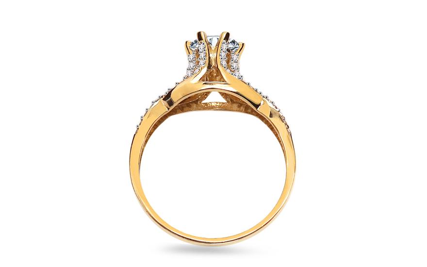 Zlatý zásnubní prsten Sally IZ8889