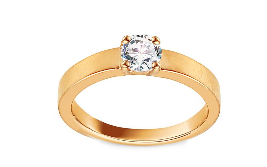 Zlatý zásnubní prsten se zirkonem Adaliz IZ13298
