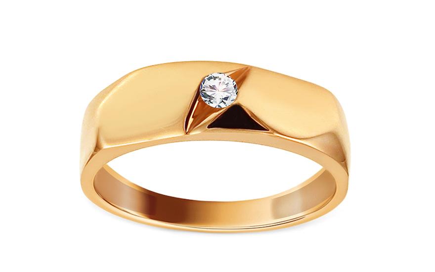 Zlatý zásnubní prsten se zirkonem Aurorette IZ13322