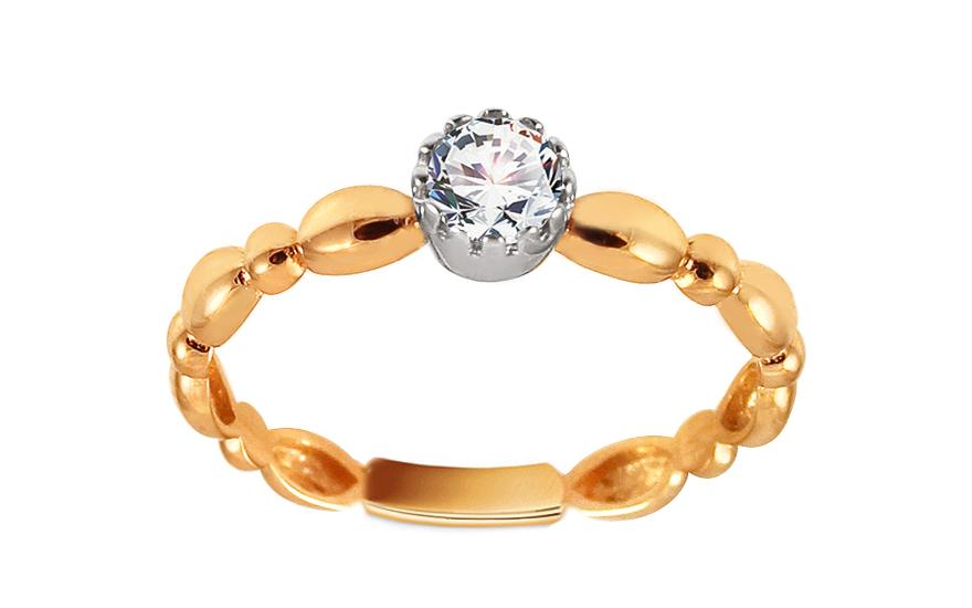 Zlatý zásnubní prsten se zirkonem Avril IZ13320