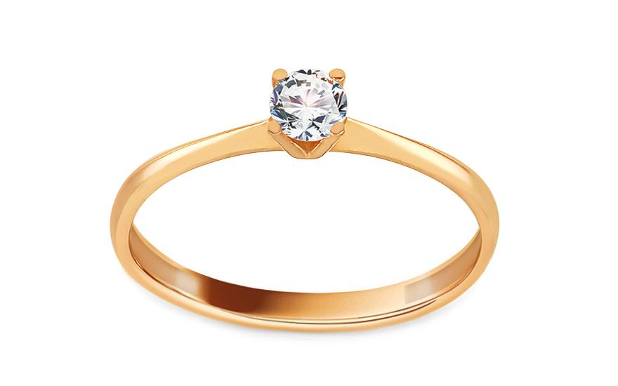 Zlatý zásnubní prsten se zirkonem Chelsea IZ13674