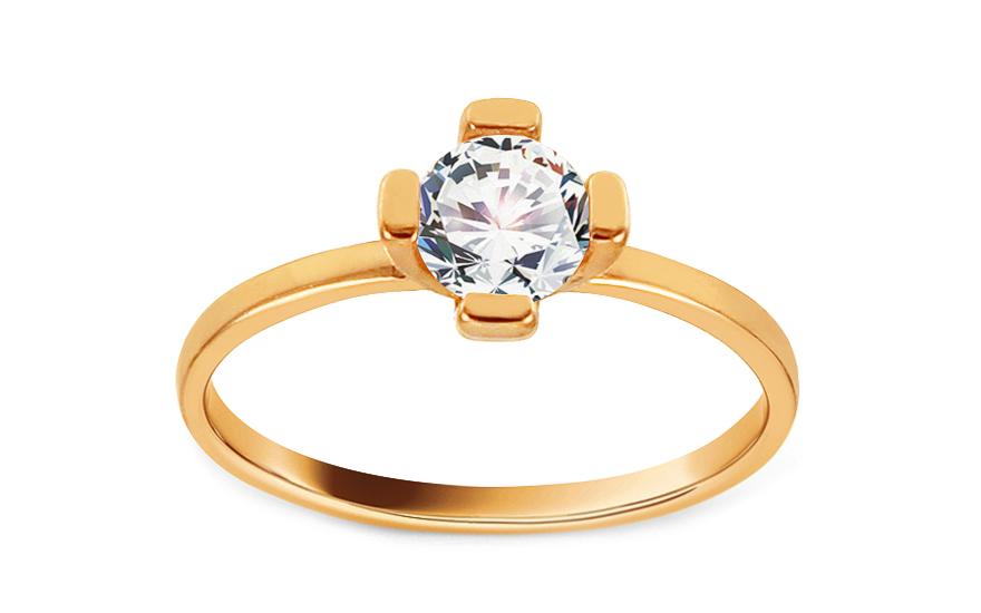 Zlatý zásnubní prsten se zirkonem Dalisia IZ13013
