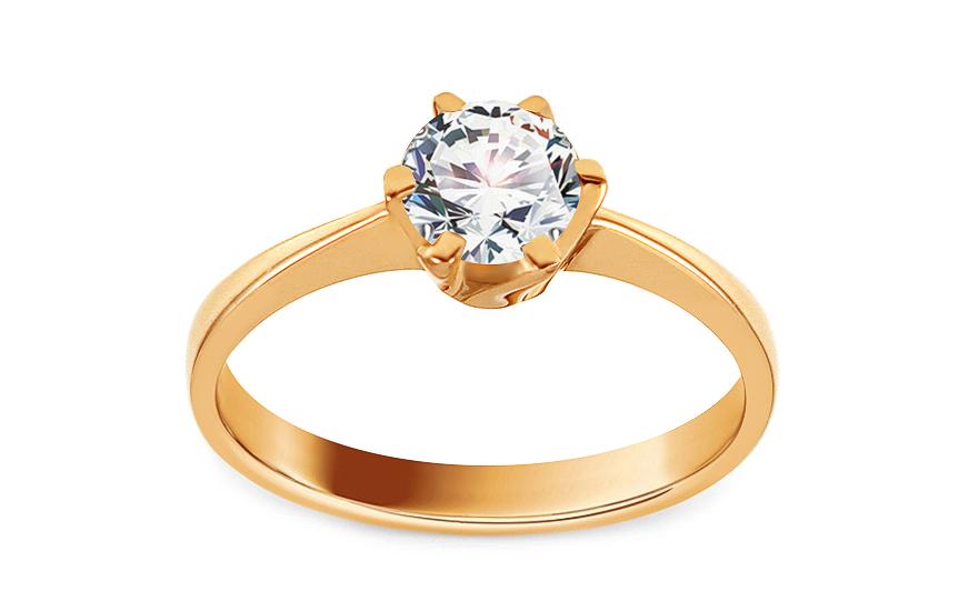 Zlaty Zasnubni Prsten Se Zirkonem Delilah Pro Zeny Iz11301