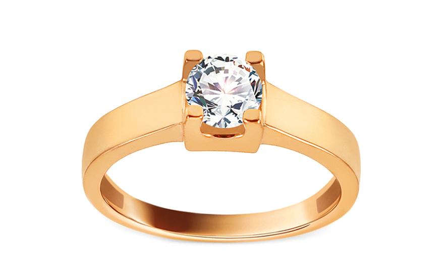 Zlatý zásnubní prsten se zirkonem Edeva IZ13277