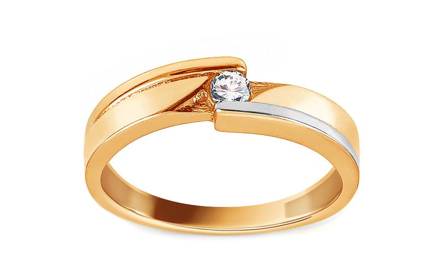 Zlatý zásnubní prsten se zirkonem Fantina 2 IZ13395YWB
