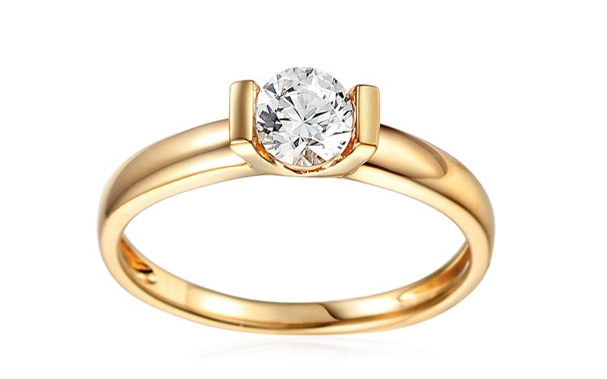 Zlatý zásnubní prsten se zirkonem Harlow IZZR017