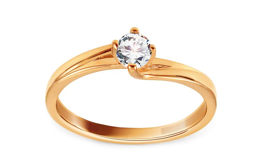 Zlatý zásnubní prsten se zirkonem Jamila IZ13778