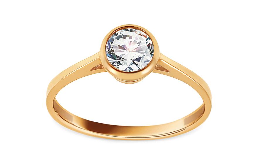 Zlatý zásnubní prsten se zirkonem Leilia IZ13673
