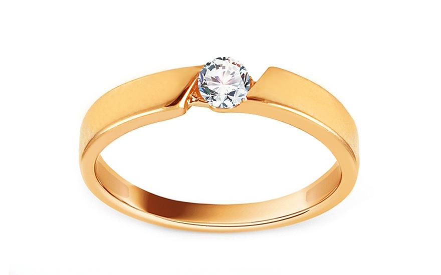 Zlatý zásnubní prsten se zirkonem Nanette IZ13735