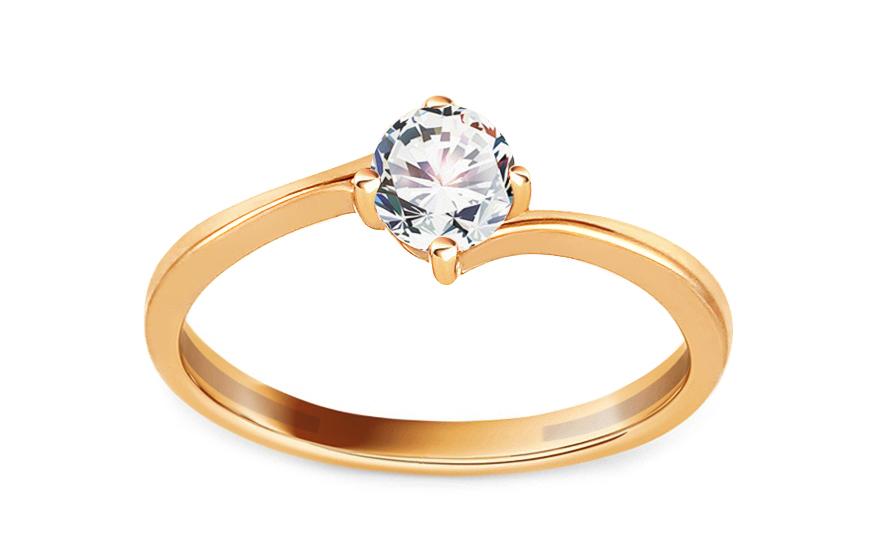 Zlatý zásnubní prsten se zirkonem Pelgia IZ13309