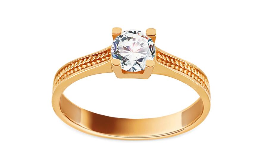 Zlatý zásnubní prsten se zirkonem Selda IZ13404