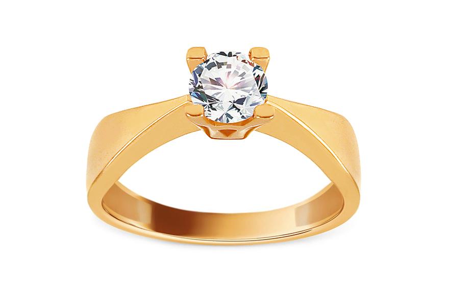 Zlatý zásnubní prsten se zirkonem Surya IZ13695